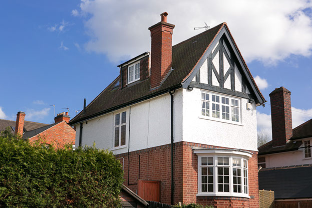 The dorma window is in keeping with the style of the property