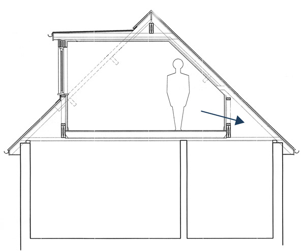 You will still have some great storage space in the eaves of your roof