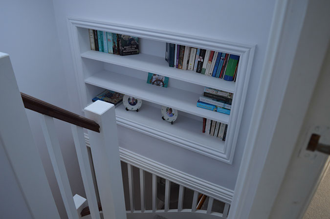 Imaginative display space created as part of the stair casing