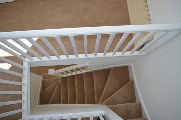 A custom built staircase