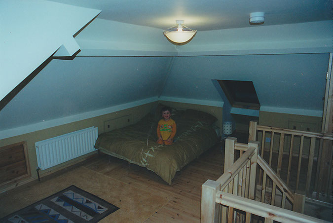 Liam was only three and loved the new loft...but this was definitely going to be mum and dads room