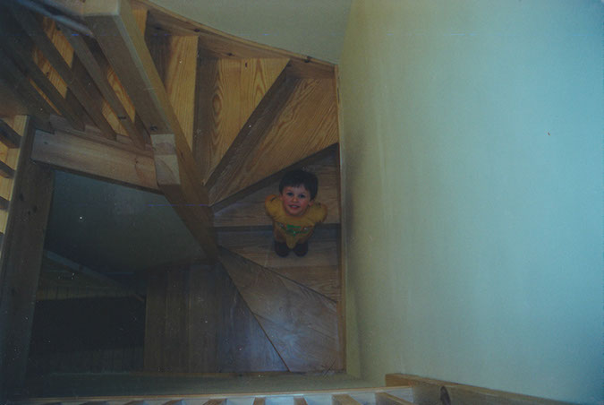 It was clear early on that John's speciality was going to be staircases